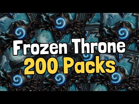 Opening 200 Frozen Throne Packs – Hearthstone