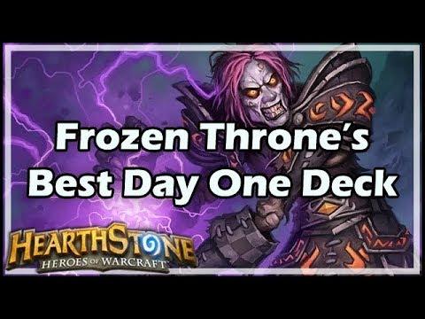 [Hearthstone] Frozen Throne's Best Day One Deck